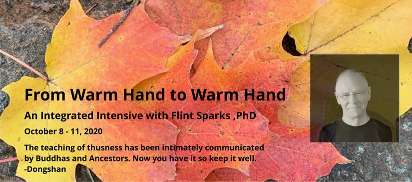 Fall zen event announcement online with Flint Sparks