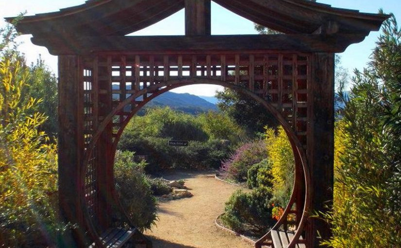 moon gate pergola by NCDunham
